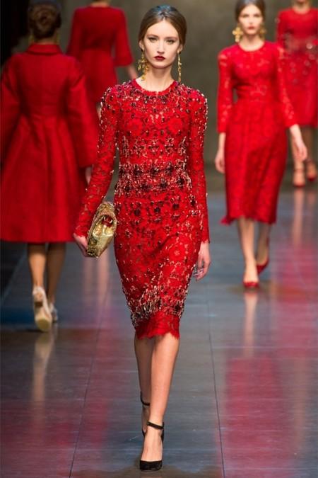 Dolce & Gabbana осень-зима 2013-2014 – когда всего слишком много — фото 63