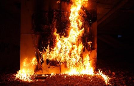 Вечный огонь, который горит несколько минут