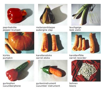 Вот небольшой перечень музыкальных овощей