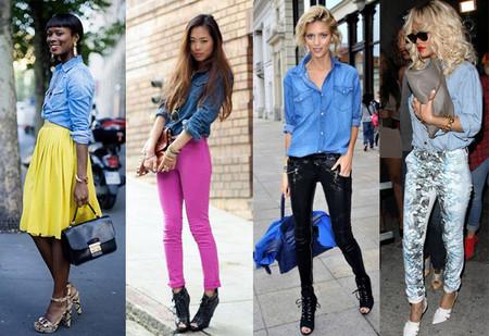 Ода джинсовой рубашке – сочиняем образы — фото 76