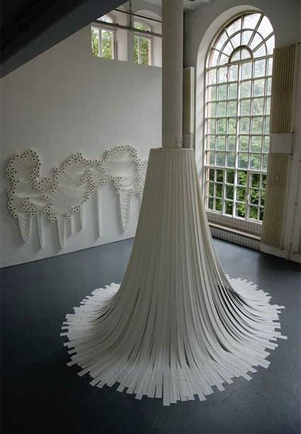 Белое на белом - инсталляции из туалетной бумаги — фото 3