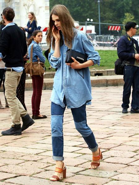 Ода джинсовой рубашке – сочиняем образы — фото 9