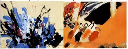 Интересное сравнение: слева — фрагмент картины Конго, справа — картины Кандинского ...