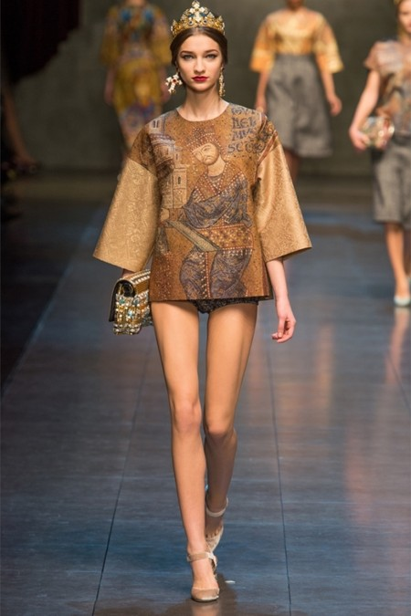 Dolce & Gabbana осень-зима 2013-2014 – когда всего слишком много — фото 15