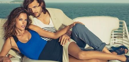 Эштон Катчер и Алессандра Амбросио в последней рекламной кампании Сolcci