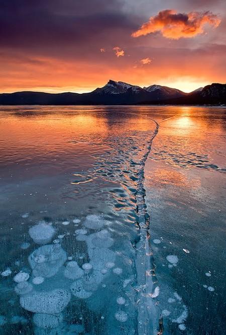 Как в заледеневшей сказке: озеро Авраама в Канаде — фото 6