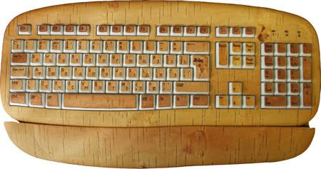Этот шедевр вообще из бересты, каждая клавиша обклеена отдельно. Представьте, какое это все на ощупь!