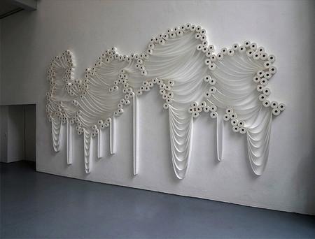 Белое на белом - инсталляции из туалетной бумаги — фото 8