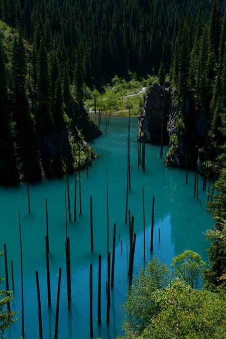 Волшебное озеро Каинды в Казахстане — фото 14