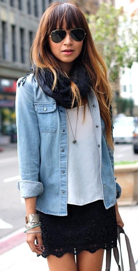 Ода джинсовой рубашке – сочиняем образы — фото 18
