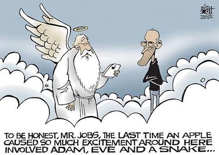 По правде говоря, мистер Джобс, яблоко не делало на Земле столько шума со времен Адама, Евы и Змея ...