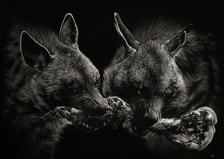Картины в технике скрэтчборд от Кристины Пенеску — фото 5