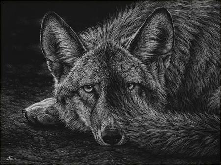 Картины в технике скрэтчборд от Кристины Пенеску — фото 11