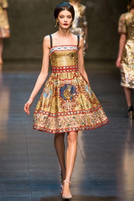 Dolce & Gabbana осень-зима 2013-2014 – когда всего слишком много — фото 73