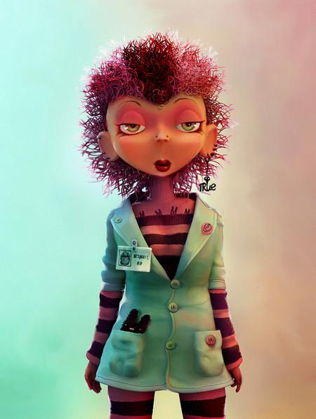 Серия персонажей в халатах — то ли медики, то ли ученые с разными предметами в карманах.Это девушка, ...