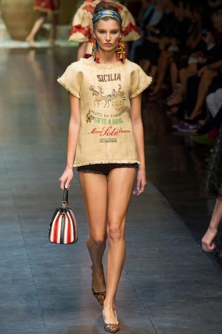 Сицилия от Dolce & Gabbana - женская коллекция весна-лето 2013 — фото 63
