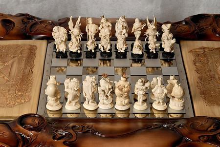 «Зазеркальные» шахматы – шедевр украинских мастеров — фото 34