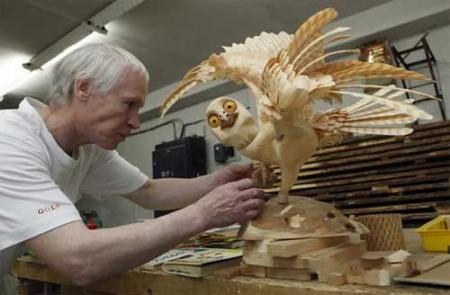 Скульптуры из стружки Сергея Бобкова — фото 5