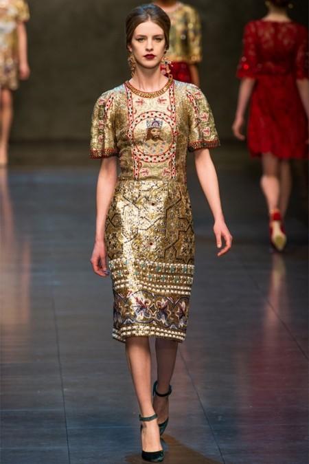 Dolce & Gabbana осень-зима 2013-2014 – когда всего слишком много — фото 70