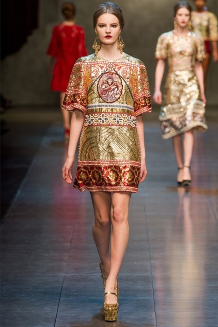 Dolce & Gabbana осень-зима 2013-2014 – когда всего слишком много — фото 69