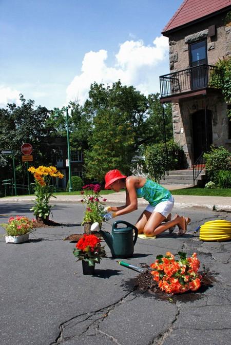 Дэвид Лусиано и Клаудиа Фикка. Что делает художник, когда ему надоедают дорожные ямы? Серию картин! — фото 5