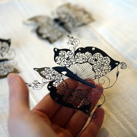 Кружева из бумаги – ювелирные работы Хины Аоямы — фото 19