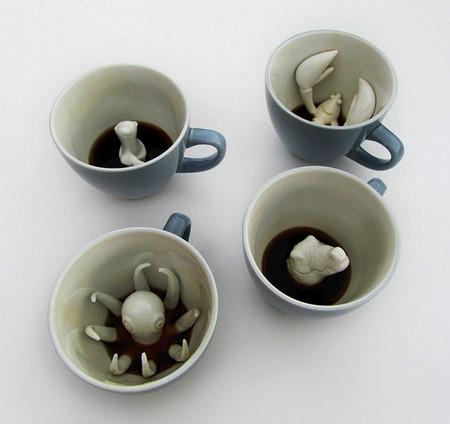 Creature cups – чашки с существами на дне — фото 1