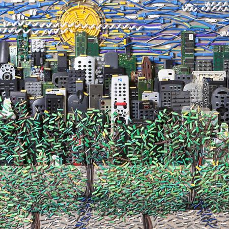 Яркие картины из кабелей от Федерико Урибе — фото 18