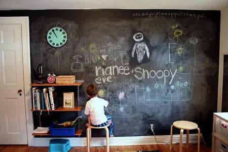 Школьная доска – часть интерьера кухни, детской, спальни и т.д. — фото 22