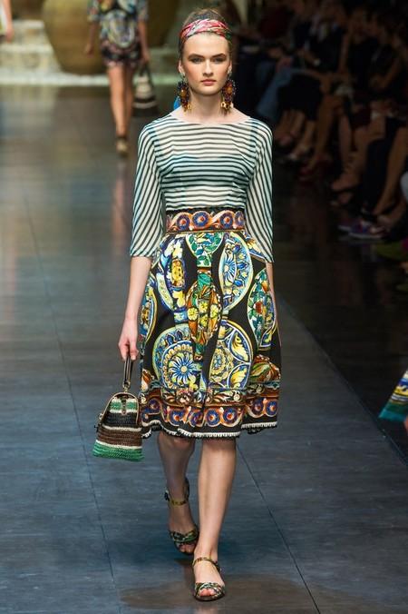 Сицилия от Dolce & Gabbana - женская коллекция весна-лето 2013 — фото 54