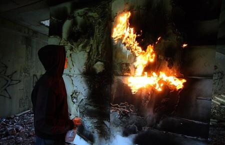 В память о ВОВ – лица, нарисованные огнем и «коктейлем Молотова». Проект T-Radya — фото 9