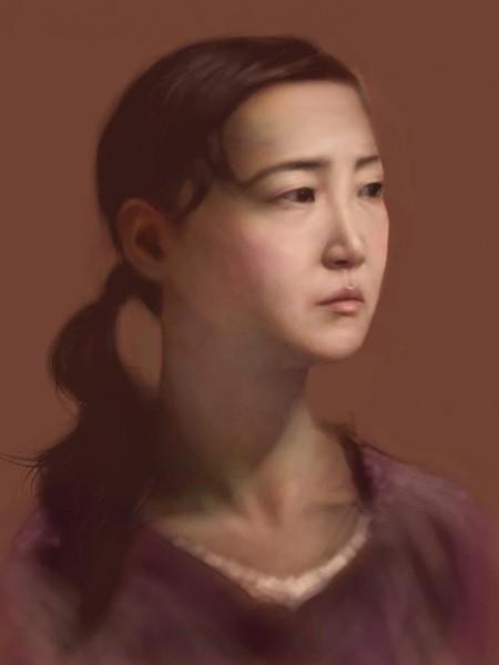 Сенсорные портреты – рисунки Сейко Ямаока на экранах iPod Touch и iPad — фото 8
