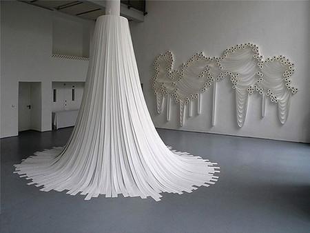Белое на белом - инсталляции из туалетной бумаги — фото 4