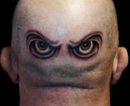 Это голова, затылок — я не сразу догадалась)