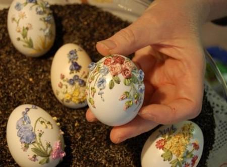 Вышивка по … яичной скорлупе. Ювелирная работа Элизабет Кляйн — фото 2