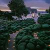 Живописные скульптурные сады замка Маркессак