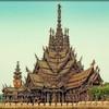Храм Истины – настоящий деревянный шедевр