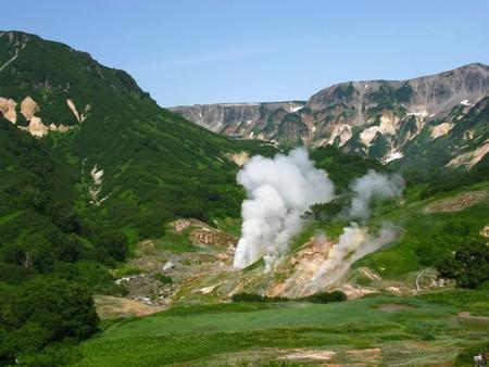 """Витраж и долгожданное извержение гейзера """"Великан"""" (ниже в коментариях есть в хорошем качестве)."""
