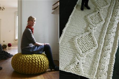Пуф и ковёр от Кристен Майндертсма