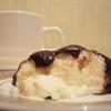 Творожно-шоколадный десерт Блюманже