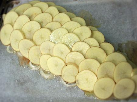 """Судак под картофельными """"чешуйками"""" — фото 1"""
