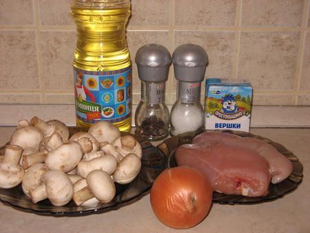 Куриная грудка под грибным соусом — фото 2