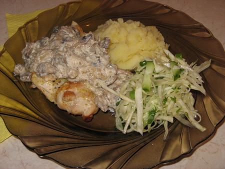 Куриная грудка под грибным соусом — фото 9