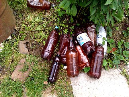 Если бутылок много и все они пусты