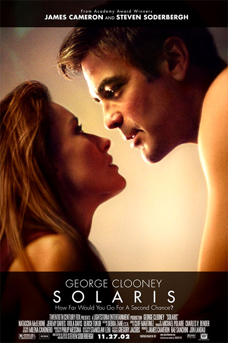 Солярис. Знаете, очень многие этот фильм ругают, но я никогда не хотел быть очень многим. Мне понравилось, даже очень. И вместо нудного и страшно затянутого фильма Тарковского, я включаю в рейтинг именно эту ленту. Отличная музыка, великолепный стиль и видеоряд. Хммм… а вам не показалось, что Клуни очень напоминает молодого Баниониса?