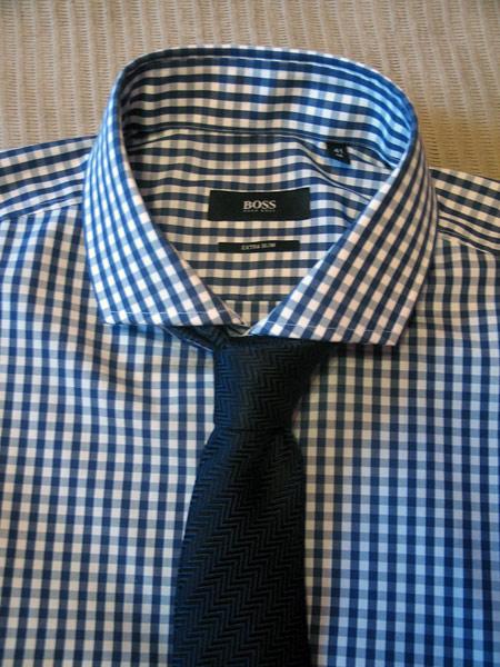 Снова в школу. Рубашка в клетку от Hugo Boss — фото 11