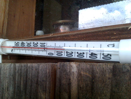 После +40, раскрасневшийся столбик термометра натужно дотягивает лишь до + 20