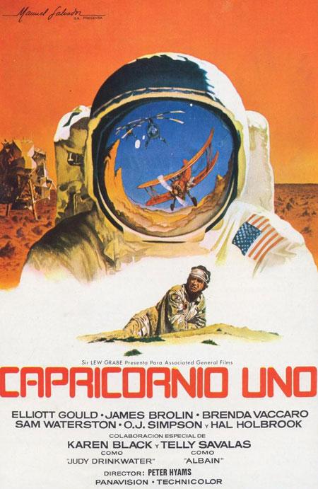Козерог -1. Строго говоря это не совсем фильм о космосе, потому что космоса там нет. И все-таки я включил эту ленту в данный рейтинг, космонавты же там есть...
