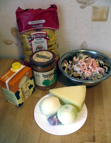 Паста с морепродуктами в сливочном соусе — фото 2