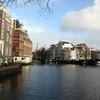 Амстердам новогодний, пингвин и пиксельный осьминог